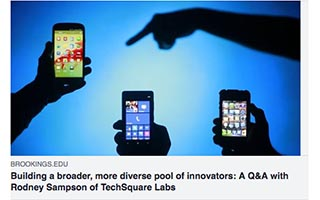Link Medium Rodney Sampson Article Brookings Institute Building a Broader More Diverse Pool of Innovators
