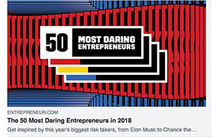 Link Entrepreneur Article Russell Ladson The 50 Most Daring Entrepreneurs in 2018