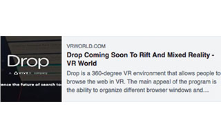 Link VR World Article Russell Ladson Drop Coming Soon