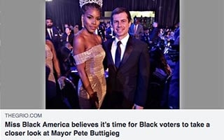 Ryann Richardson Article The Grio Miss Black America believes it's time for Black voters to take a closer look at Mayor Pete Buttigieg