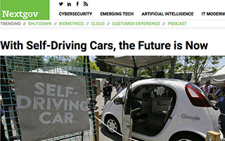 Link Nextgov Article Shawn DuBravac With Self Driving Cars The Future Is Now