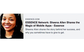 Link Essence Network Article Sheena Allen From App to Empire