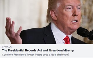 Link CNN Shontavia Johnson Article CNN The President Records Act and realdonaldtrump