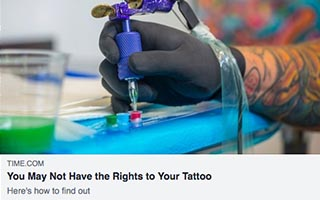 Link Time Shontavia Johnson Article Time You May Not Have the Rights to Your Tattoo