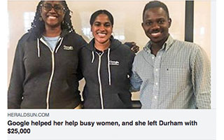 Link The Herald Sun Article Stephanie Cummings Google Helped Her Help Busy Women and She Left Durham