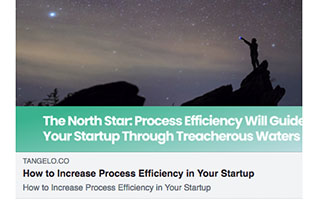 Link Tangelo Tara Carter Article How to Increase Process Efficiency in Your Startup