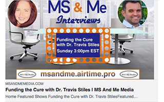 Link MS and Me Media Article Fuding The Cure with Travis Stiles