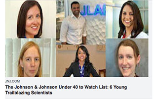 Link Johnson and Johnson Article Travis Stiles Under 40 to Watch List 6 Young Trailblazing Scientists