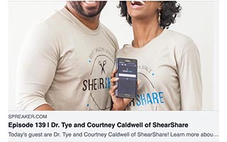 Link Refocused Article Tye Caldwell Dr Tye and Courtney Caldwell of ShearShare