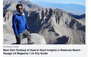 Link VoyageLA Article Meet Vish Chatterji of Head and Heart Insights in Redondo Beach