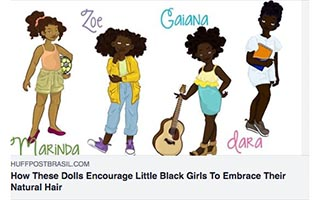 Link Huffington Post Yelitsa Jean-Charles How These Dolls Encourage Little Black Girls to Embrace Their Natural Hair