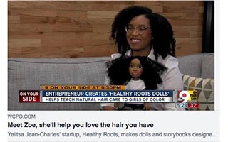 Link WCPO Cincinnati Article Yelitsa Jean-Charles New Doll Helps Children of Color Love Their Hair